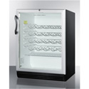"""Summit Appliance SWC6GBLADA Commercially Approved, 24"""" Wide, Counter-Height Wine Cellar For ADA Height Counters"""