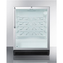 """Summit Appliance SWC6GBLBITBADA Commercially Approved, Built-In Under-Counter 24"""" Wine Cellar For ADA Height Counters"""