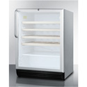 """Summit Appliance SWC6GBLCSSWO Commercially Approved, Built-In Under-Counter 24"""" Wine Cellar"""