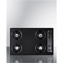 "Summit Appliance TNL053 30"" Wide Cooktop In Black, With Four Burners And Gas Spark Ignition;"