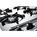"Summit Appliance ZNL03P 24"" Wide Gas Cooktop In Chrome, With Four Burners And Battery Start Ignition;"