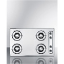 "Summit Appliance ZNL053 30"" Wide Gas Cooktop In Chrome, With Four Burners And Gas Spark Ignition;"
