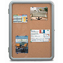 "Enclosed Cork Message Board - 24""Wx36""H"
