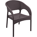 Compamia ISP808-BR Panama Resin Wickerlook Dining Arm Chair Brown, CS of 2/EA