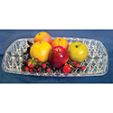"Rectangular Serving Tray, Crystal Cut - 22""Wx16""D"