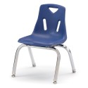 """Jonti-Craft 8142JC1003 Berries Stacking Chair with Chrome-Plated Legs - 12"""" Ht - Blue"""