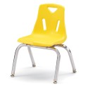 """Jonti-Craft 8142JC1007 Berries Stacking Chair with Chrome-Plated Legs - 12"""" Ht - Yellow"""