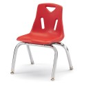 """Jonti-Craft 8142JC1008 Berries Stacking Chair with Chrome-Plated Legs - 12"""" Ht - Red"""