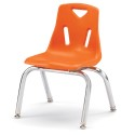 """Jonti-Craft 8142JC1114 Berries Stacking Chair with Chrome-Plated Legs - 12"""" Ht - Orange"""