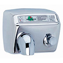 Hand Dryers - Push Button, Stainless Finish