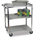 "Stainless Steel Utility Cart 300 lbs. Capacity, 18-3/8""Wx30-3/4""Dx33""H"