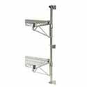 "Wire Shelving - 13""W Chrome Plated Wall Mount Post Set"