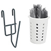 "Value Series - Grid Mount Cylinder Utensil Holder, 6""Wx6""Dx2""H"