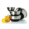Focus 875SBK - 3PC Non-Skid Mixing Bowl Set