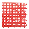 "Franklin Machine Products 280-1414 - Versa-Mats Shelf Liner By San Jamar 12"" X 12"" Red"
