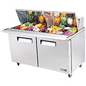Basic Sandwich/Salad Table - Mega Top Unit, 2 Doors, 19 Cu. Ft., 1/2 HP