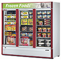 Deluxe Swing Glass Door Freezer - 3 Doors, 12 Shelves, 71.3 Cu. Ft.