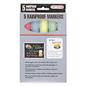 Marker Board Fluorescent Markers - Blue, Green, White, Pink and Yellow