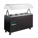 "Affordable Portable Hot Food Buffet Table - 4 Wells, 60""W with Enclosed Base"