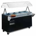 "Affordable Portable Hot Food Buffet Table - 4 Wells, 60""W with Doors on Base"