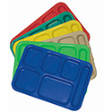 6 Compartment Cafeteria Tray ABS, for Right Hand Use