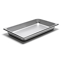 22 Gauge Stainless Steel Steam Table Pan, Full-Size, 8-5/16 Quart