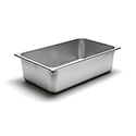 22 Gauge Stainless Steel Full-Size Steam Table Pan - 21 Quart