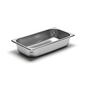 22 Gauge Stainless Steel Steam Table Pan, Third-Size, 2-5/8 Quart