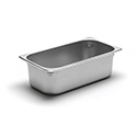 22 Gauge Stainless Steel Steam Table Pan, Third-Size, 4-1/8 Quart