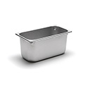 22 Gauge Stainless Steel Steam Table Pan, Third-Size, 6-1/8 Quart