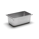 22 Gauge Stainless Steel Steam Table Pan, Fourth-Size, 3 Quart