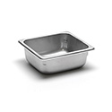 22 Gauge Stainless Steel Steam Table Pan, Sixth-Size, 1-3/16 Quart