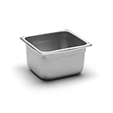 22 Gauge Stainless Steel Steam Table Pan, Sixth-Size, 1-13/16 Quart