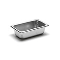 22 Gauge Stainless Steel Steam Table Pan, Ninth-Size, 5/8 Quart