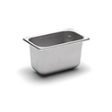 22 Gauge Stainless Steel Steam Table Pan, Ninth-Size, 1-1/8 Quart