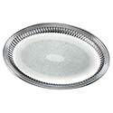 "Esquire Fluted Serving Tray - 17-5/8""Wx13""D Oval"