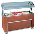"Affordable Portable Ice Cooled Cold Pan Unit, 60"" Wide, Doors on Base"