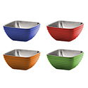 Colored Insulated Serving Bowl, Square, 3-3/16 Qt.