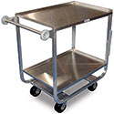 Extra Heavy Duty Stainless Steel Utility Cart - Two Shelves