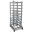"Win-holt CR-162M - Kitchen Can Rack, Heavy Duty 76""H"