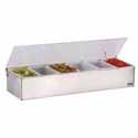 Bar Condiment Organizer Stainless Steel with (6) Pint Inserts