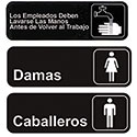 Contemporary Symbol Sign - Spanish Only
