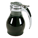 Dripcut Syrup Dispensers - 16 oz., Chrome Plated Top
