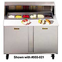 Front Breathing Sandwich/Salad Table - Two Doors, Holds (8) Sixth-Size Pans