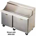 Front Breathing Sandwich/Salad Table - Two Doors, Holds (24) Sixth-Size Pans
