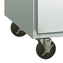"Set of 4 Casters For 27""W and 48""W Traulsen Undercounter Refrigerators or Freezers and Traulsen Front Breathing Sandwich Prep Tables"