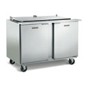 Front Breathing Sandwich and Salad Prep Table - Two Door, Includes (18) Sixth-Size Pans