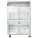 Reach-In Refrigerator - Two Section, Half Height Glass Doors