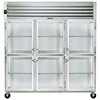 Reach-In Refrigerator - Three Section, Half Height Glass Doors