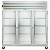Reach-In Refrigerator - Three Section, Full Height Glass Doors